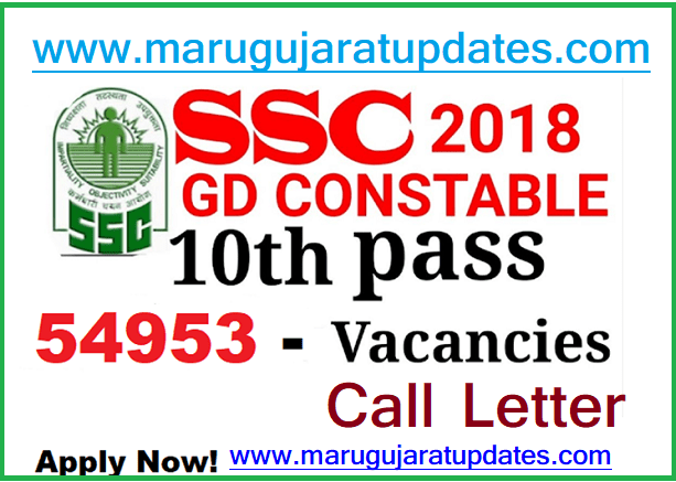 Staff Selection Commission (SSC) 54953 Constable (GD), Rifleman (GD) Posts Call Letter