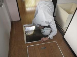 床下点検口から目視で確認