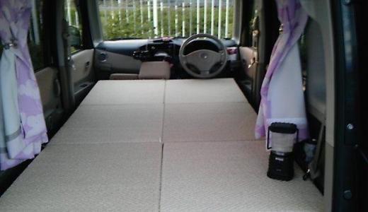 【自作】軽自動車スズキパレットの車中泊ベッド作成 (再投稿)