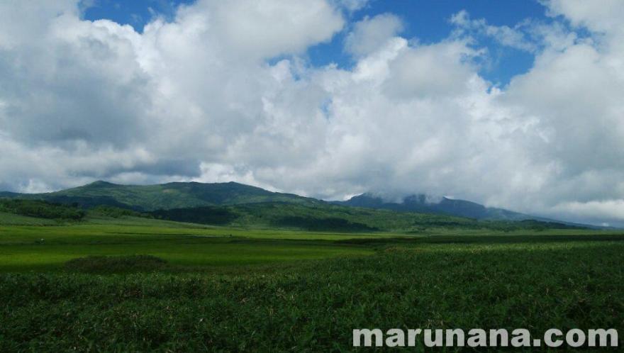 雨竜沼湿原と南暑寒別岳と暑寒別岳