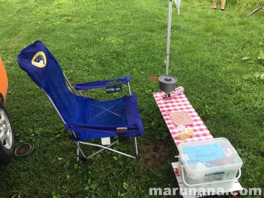 軽キャンピングカーのテントむしでソロキャンプ