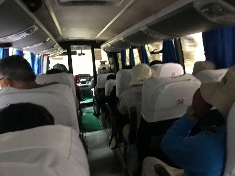 マチュピチュ遺跡までのバスはすごく揺れる・・・