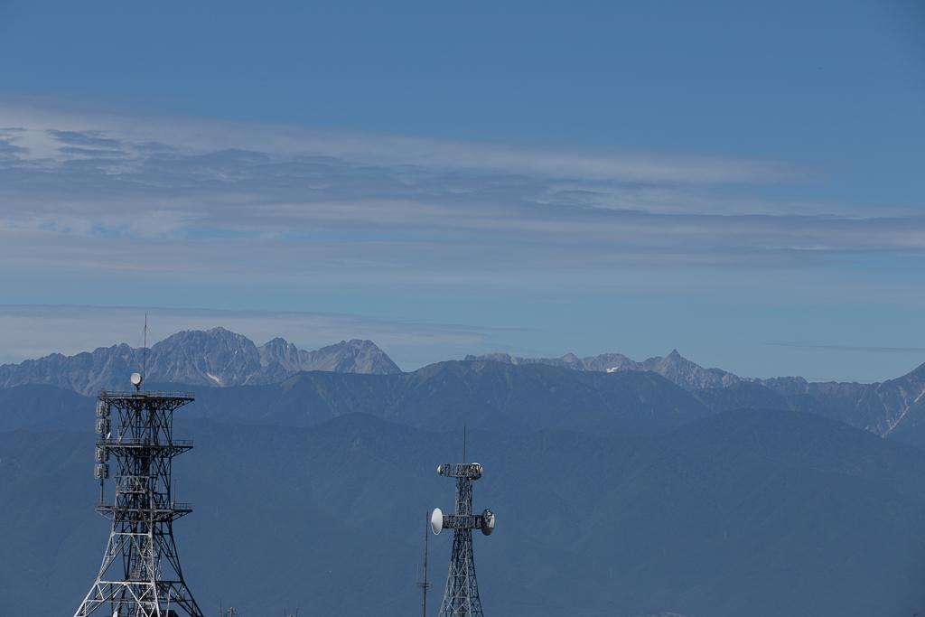 高ボッチ山からの眺め 北アルプス山脈