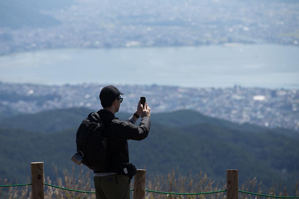 高ボッチ山からの眺め 諏訪湖