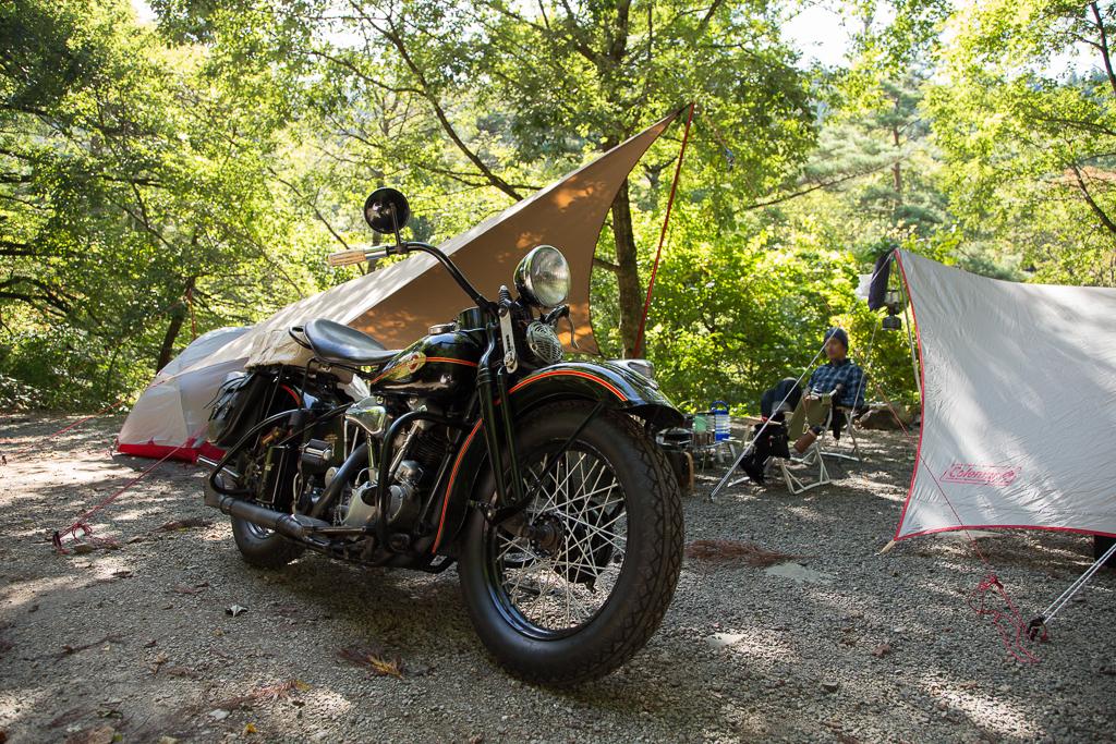 道志の森キャンプ ハーレー