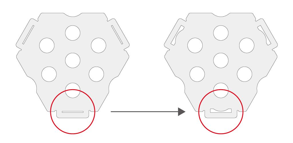 デルタストーブ用ベースパネル変更点