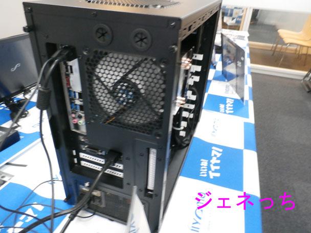 パソコン工房デスク本体後部