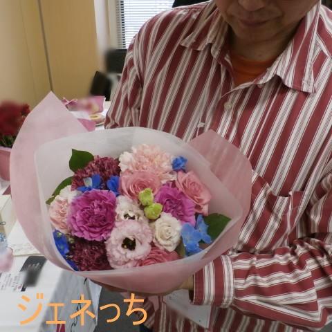 ハピネス・ブルーの花束持って