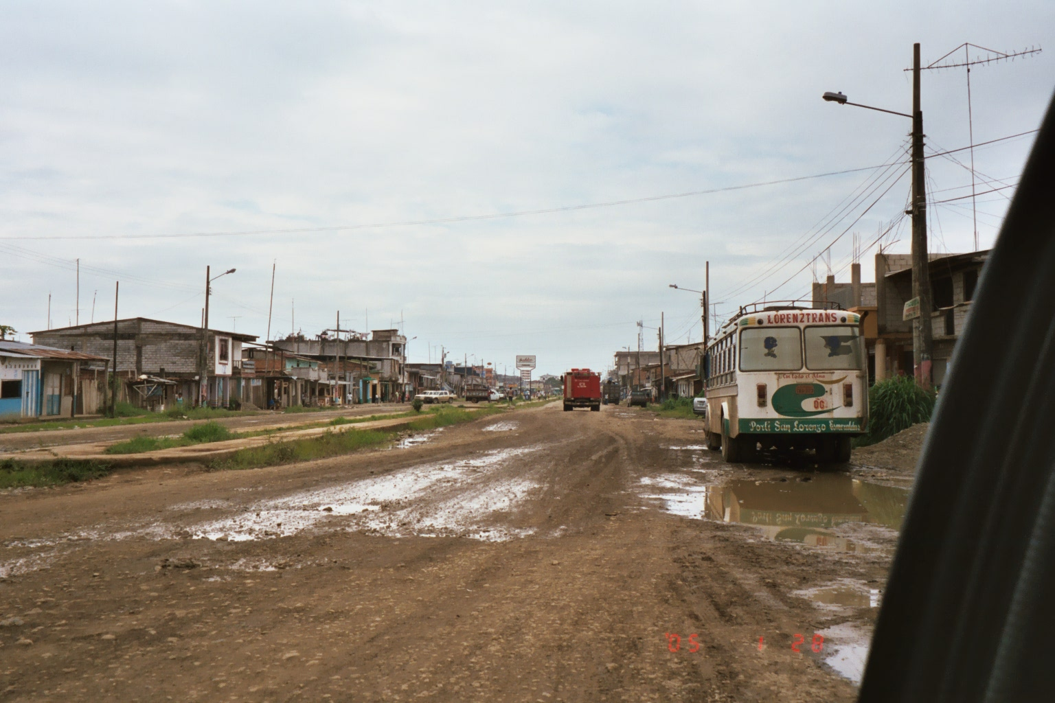 The main road leading to downtown