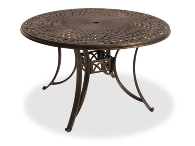 carlsbad black gold cast aluminum 48 in dining table
