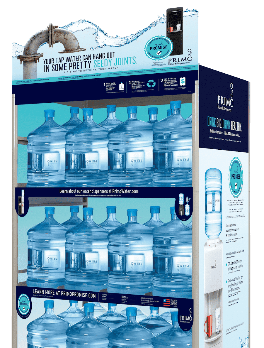 pre filled exchange water primo water