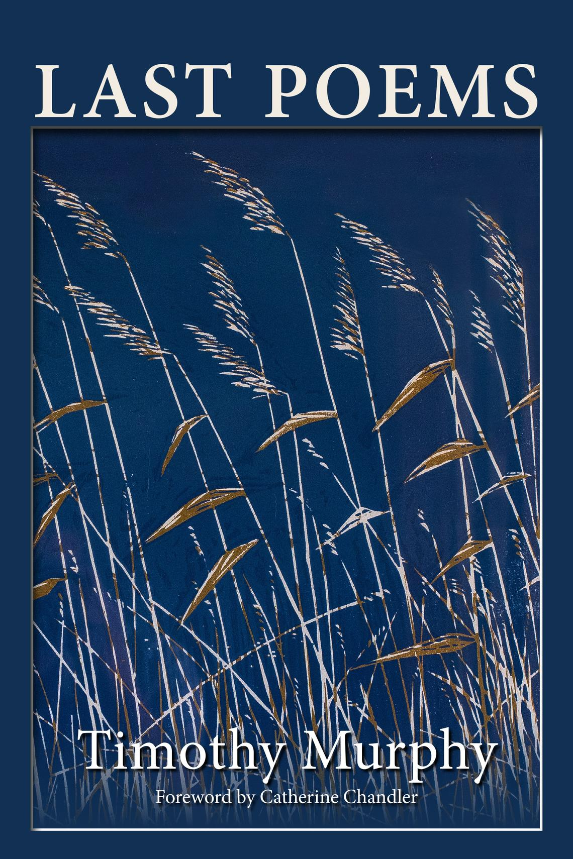 """""""Last Poems"""" by Timothy Murphy features an illustration of Charles Beck's woodcut, """"Marsh Grass,"""" with the cover designed by Deb Tanner. Special to The Forum"""