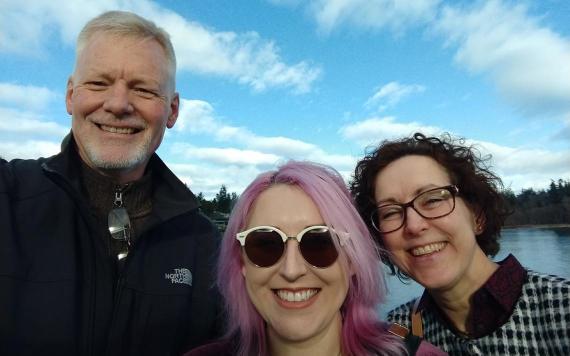 Steve Syrdal with his wife, Sharon, and daughter, Kendra, in January 2018. Special to The Forum