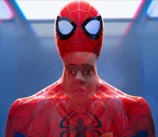 A frame from Spider-Man: Into the Spider-Verse movie