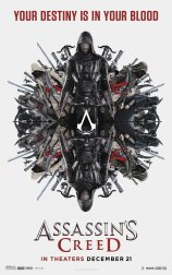Poster d'Assassin's Creed avec la tagline 'Your destiny is in your blood'