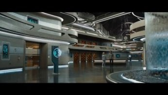 Photo de l'intérieur du vaisseau du film Passengers