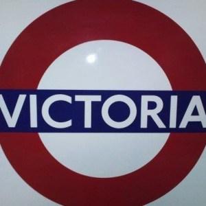 Victoria Tube Station Sign