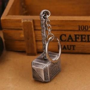 metal thor hammer keychain - marvelofficial.com
