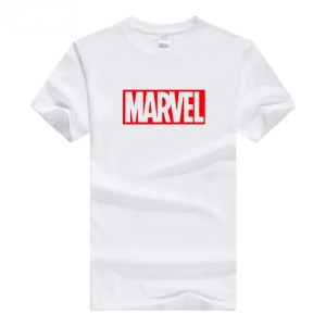 Marvel logo white t-shirt - marvelofficial.com