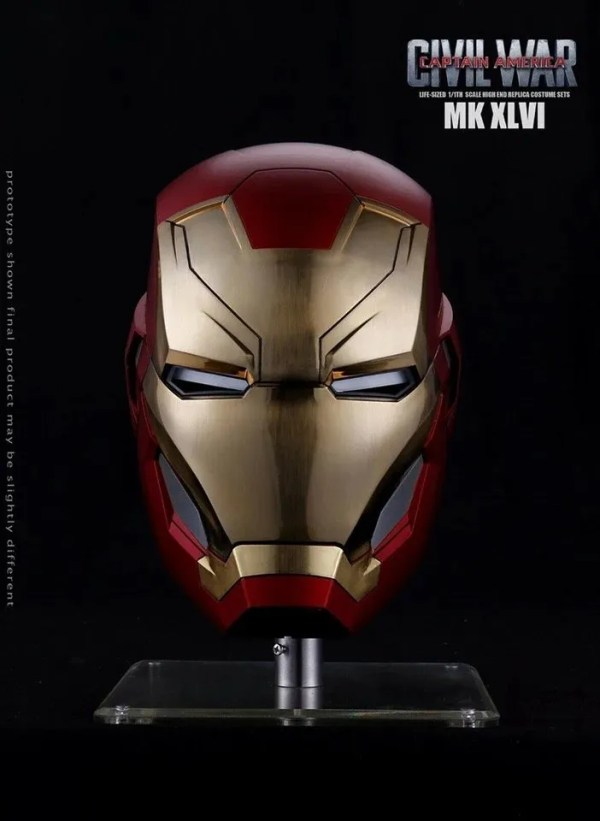 Metal Electronic Mark 46 Iron Man Helmet 1:1 Replica - Marvelofficial.com