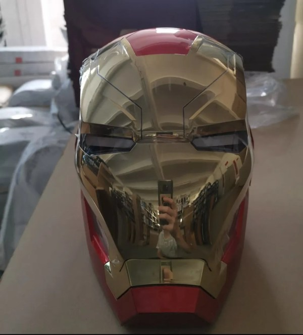 Metal Electronic Mark 46 Iron Man Helmet 1:1 Replica front - Marvelofficial.com