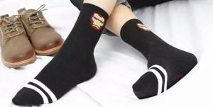 Marvel Socks - Marvel Iron Man Helmet Black Athletic Socks - marvelofficial.com