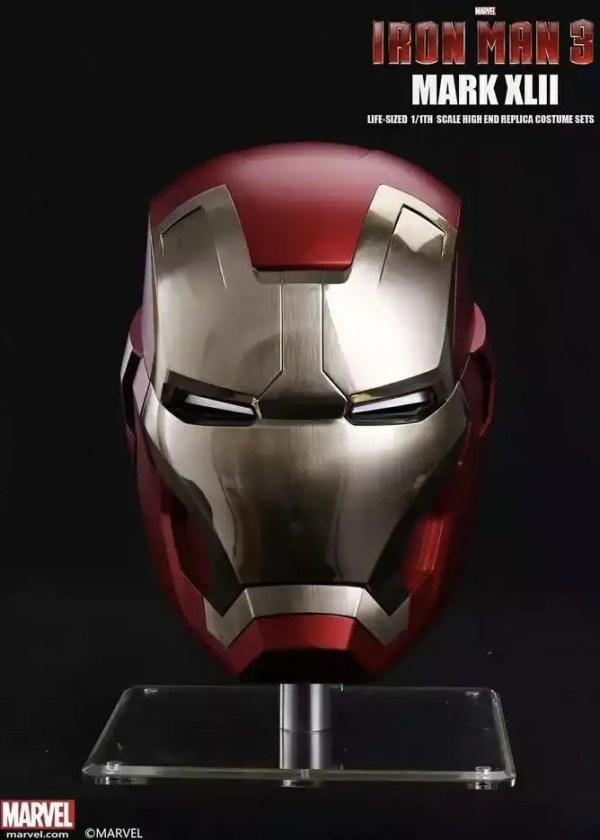 Metal Electronic Mark 43 Iron Man Helmet 1:1 Replica - Marvelofficial.com