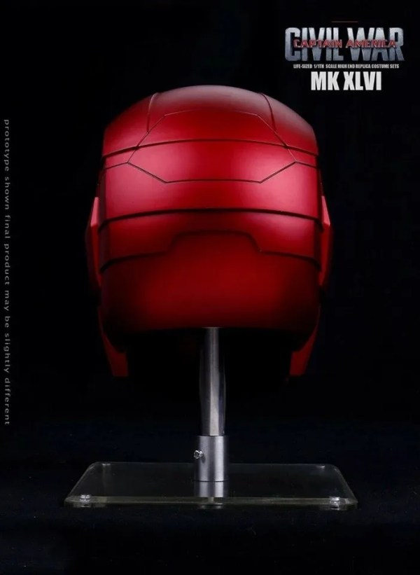 Metal Electronic Mark 46 Iron Man Helmet 1:1 Replica back - Marvelofficial.com