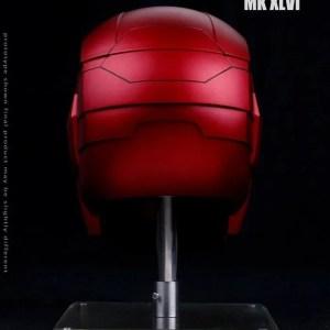 Metal Electronic Mark 46 Iron Man Helmet 1:1 Replica back - Marvelofficial.com