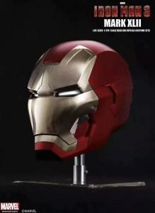 Metal Electronic Mark 46 Iron Man Helmet 1:1 Replica - Marvelofficial.com