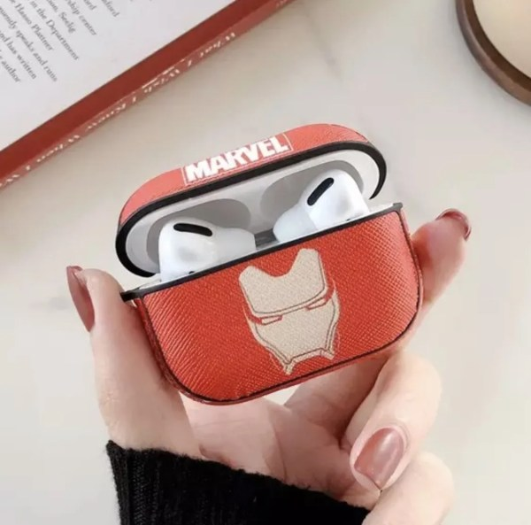 Apple AirPods Pro Silicone Case Luxury Marvel Iron Man - Marvelofficial.com