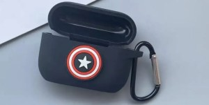 Apple AirPods Pro Case Marvel Captain America Shield - Marvelofficial.com
