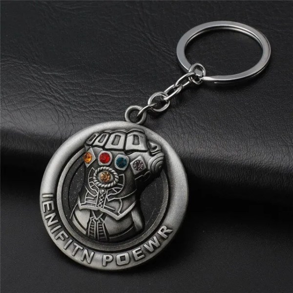 silver Thanos Infinite Power Keychain - Marvelofficial.com
