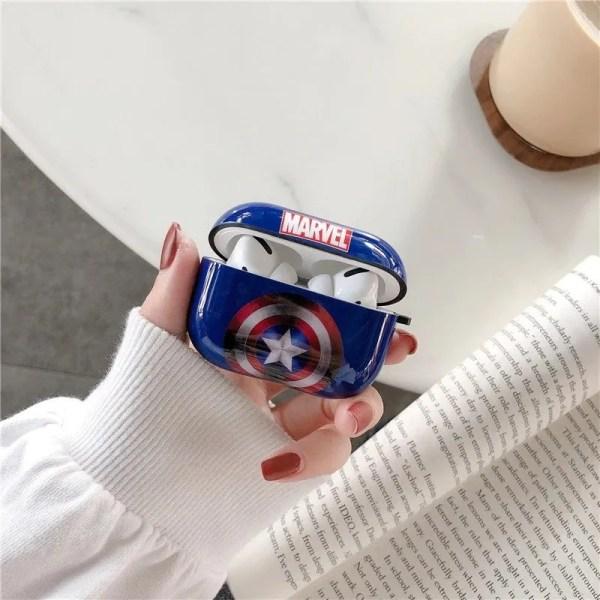 Captain America AirPods Pro Plastic Case Marvel - marveofficial.com