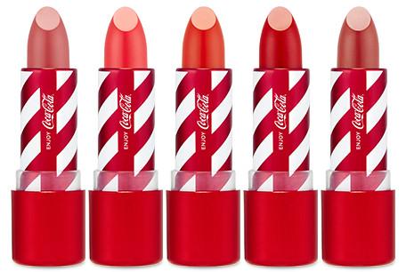 rouges à lèvres coca cola the face shop