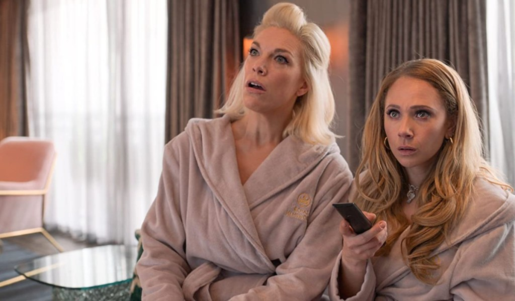 """Hannah Waddingham and Juno Temple in """"Ted Lasso,"""" """"Make Rebecca Great Again"""" now streaming on Apple TV+."""