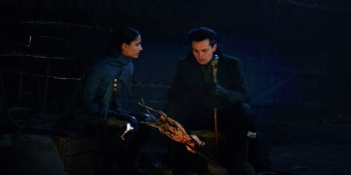 """Kaz Brekker and Inej Ghafa in a moment of vulnerability in Shadow and Bone's """"The Unsea"""" now available exclusively on Netflix."""