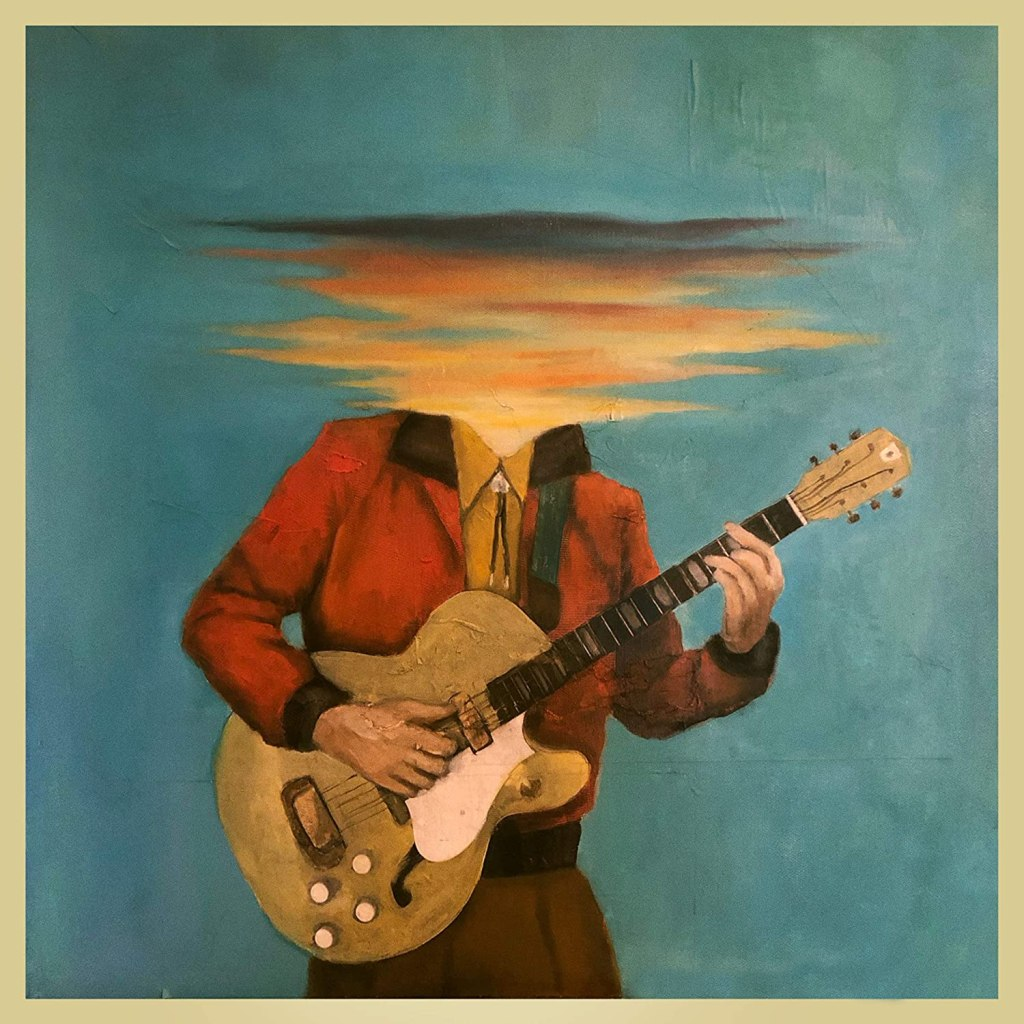Latest album cover for Lord Huron's Long Lost featuring a drawing of a person playing guitar with their head blurred.