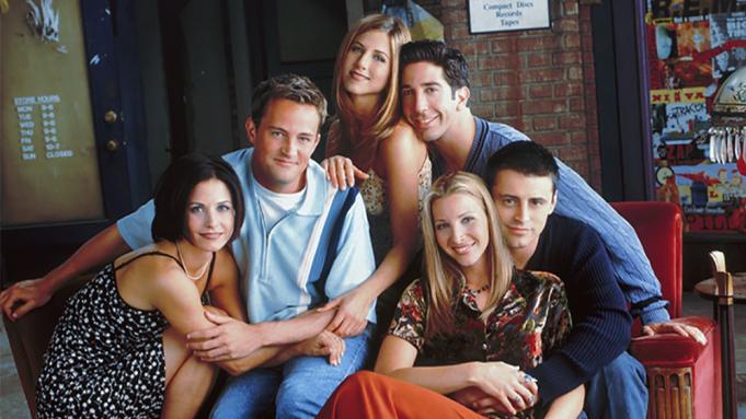 Chandler Bing, Joey Tribbiani, Monica Geller, Phoebe Buffay, Rachel Green, and Ross Geller in F.R.I.E.N.D.S.