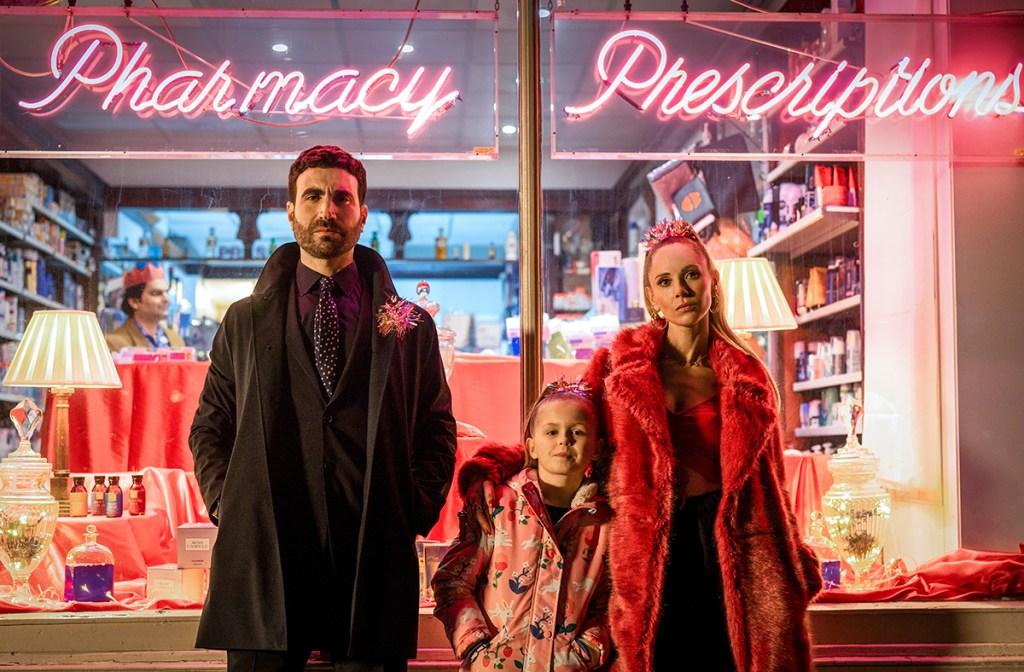 """Brett Goldstein, Elodie Blomfield and Juno Temple in """"Ted Lasso"""" season two, now streaming on Apple TV+. Episode: """"Carol of the Bells"""""""