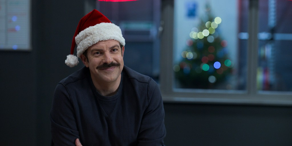 """Jason Sudeikis in """"Ted Lasso"""" season two, now streaming on Apple TV+. Episode: """"Carol of the Bells"""""""