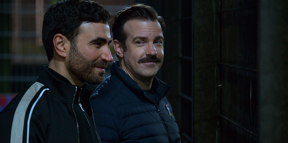 """Brett Goldstein and Jason Sudeikis in """"Ted Lasso"""" season two, now streaming on Apple TV+. """"Rainbow"""""""