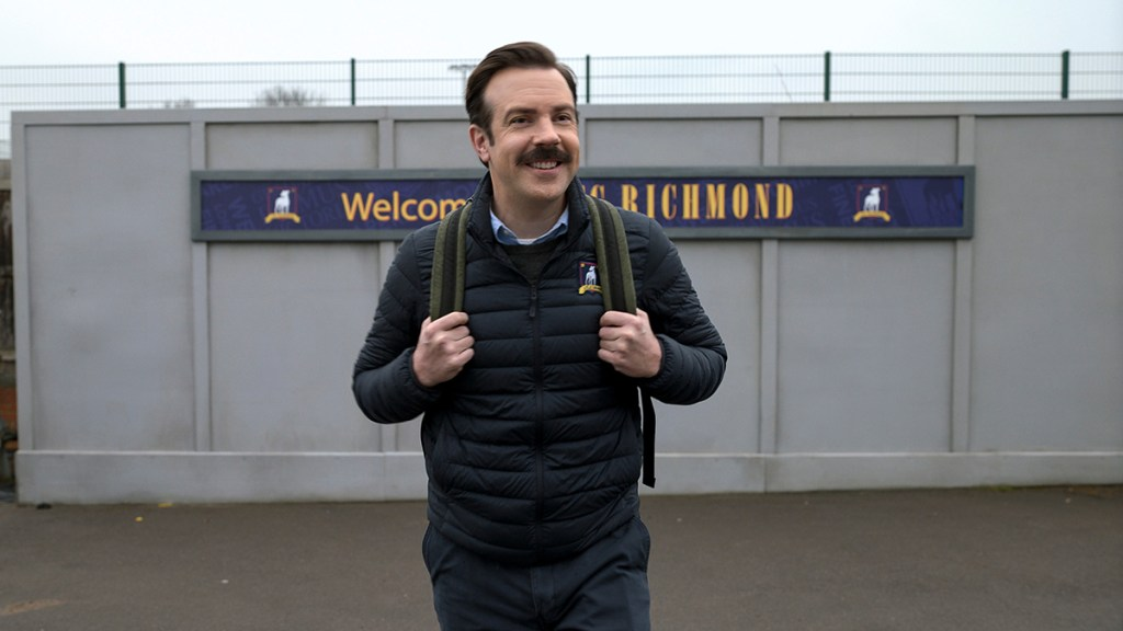"""Jason Sudeikis in """"Ted Lasso"""" season two,""""The Signal"""" now streaming on Apple TV+"""