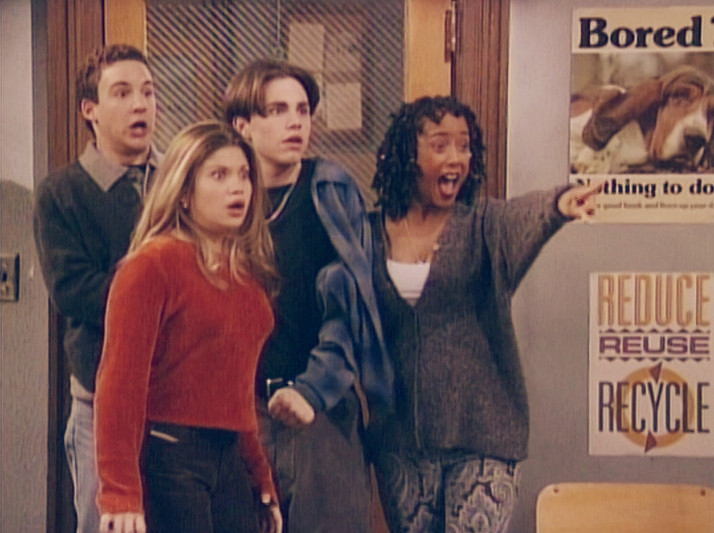 """Still from Boy Meets World's """"And Then There Was Shawn"""" now available on Disney Plus"""