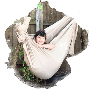 first grade child in hammock