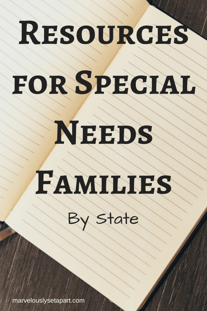 List of resources for special needs families