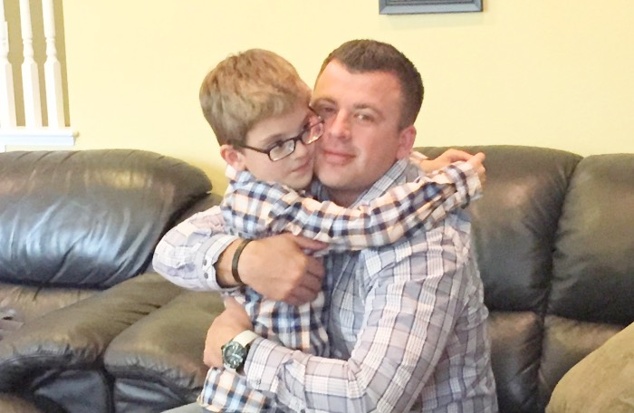 autism dad with son