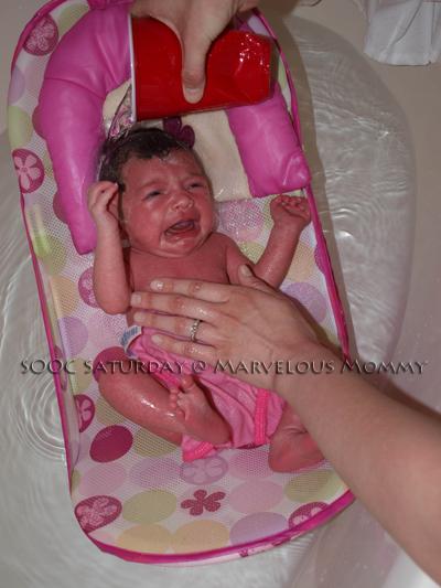 Haley's First Bath