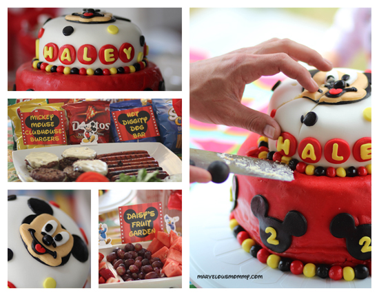 Cool Haleys 2Nd Birthday Mickey Mouse Birthday Party Ideas Personalised Birthday Cards Vishlily Jamesorg