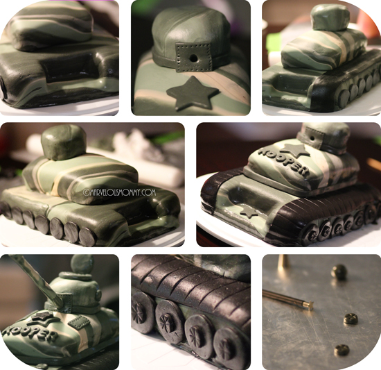 Army Camo Tank Birthday Cake | Free Party Printable